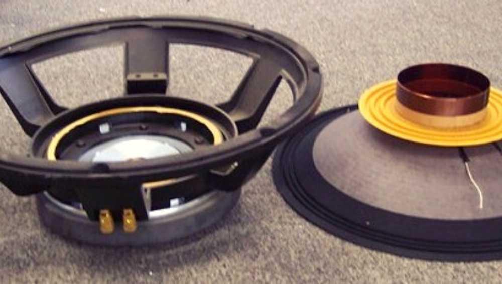 Remove the Voice Coil and Speaker Cone